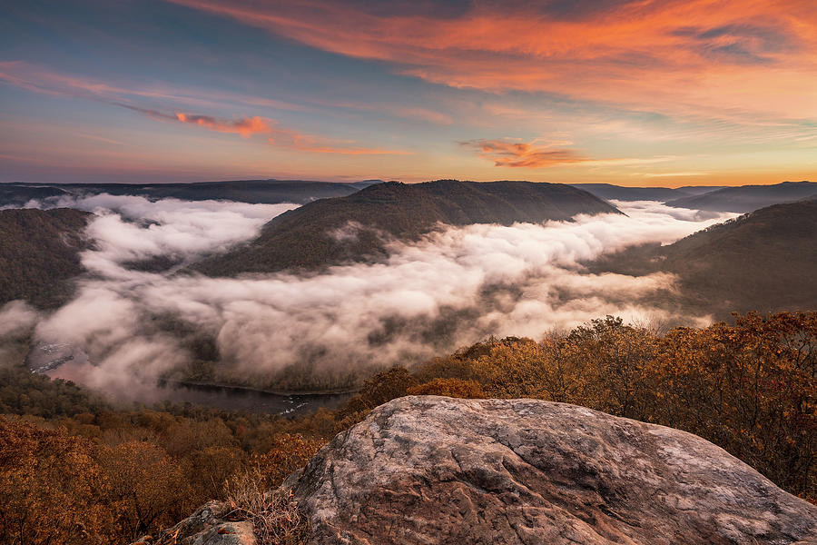 Grand View or Grandview in New River Gorge by Steven Heap