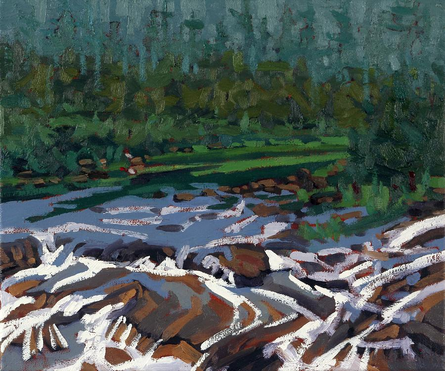 August Painting - Grande Chute Goat Island by Phil Chadwick