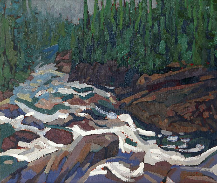 August Painting - Grande Chute Morning Light by Phil Chadwick