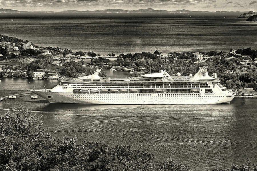Grandeur Of The Seas Docked at Castries, St. Lucia by Bill Swartwout Fine Art Photography