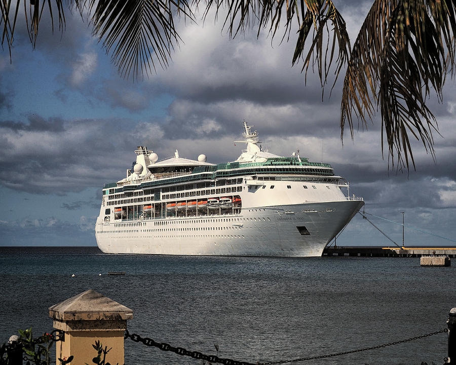 Grandeur of the Seas Docked at St. Croix by Bill Swartwout Fine Art Photography