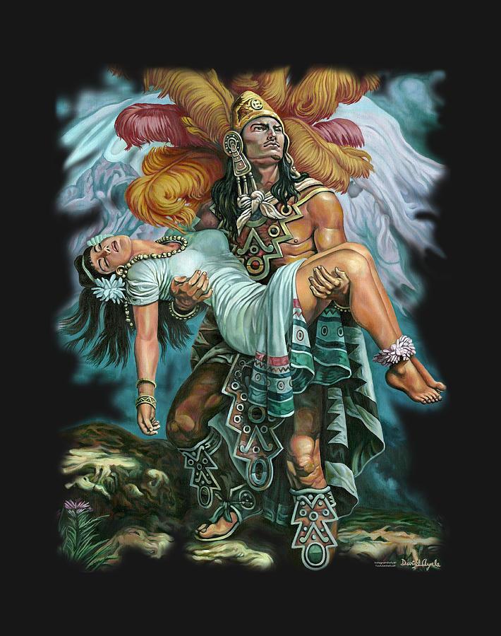 Montana Painting - Grandeza Azteca by Daniel Ayala
