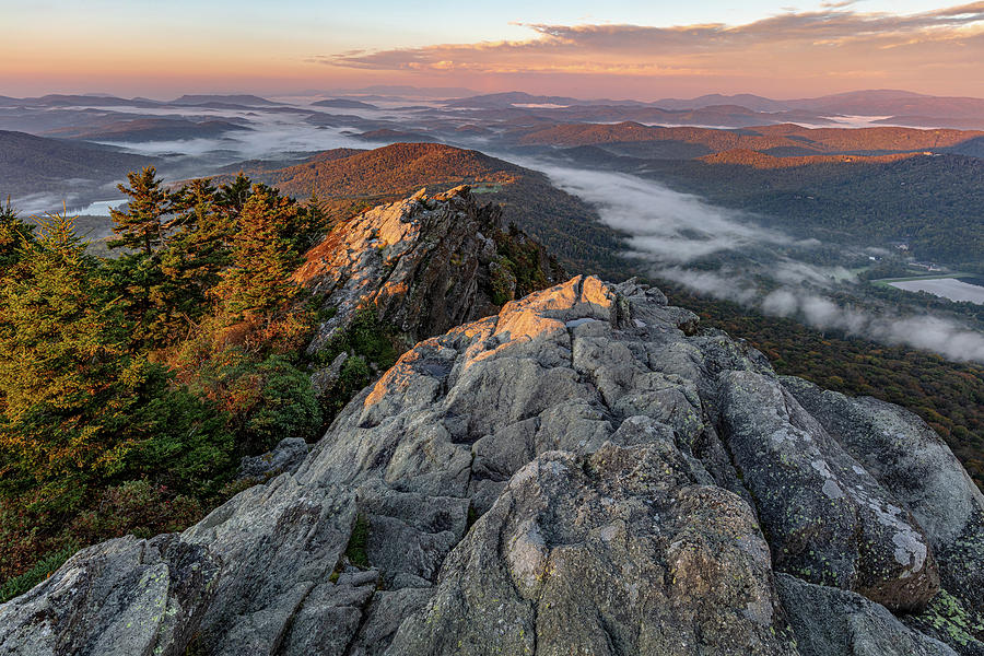 Grandfather Mountain Sunrise in the Southern Appalachians by Carl Amoth