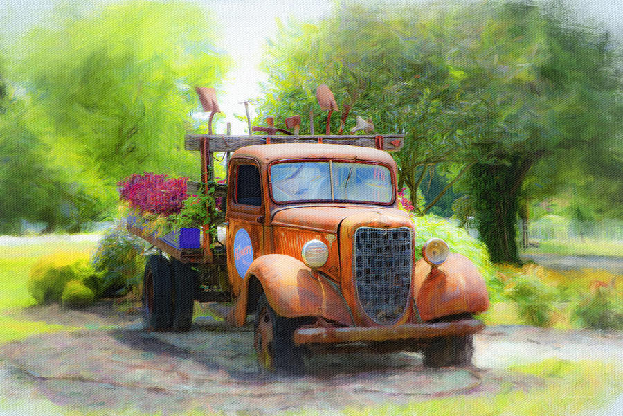 Grandmas Old Truck by Diane Lindon Coy