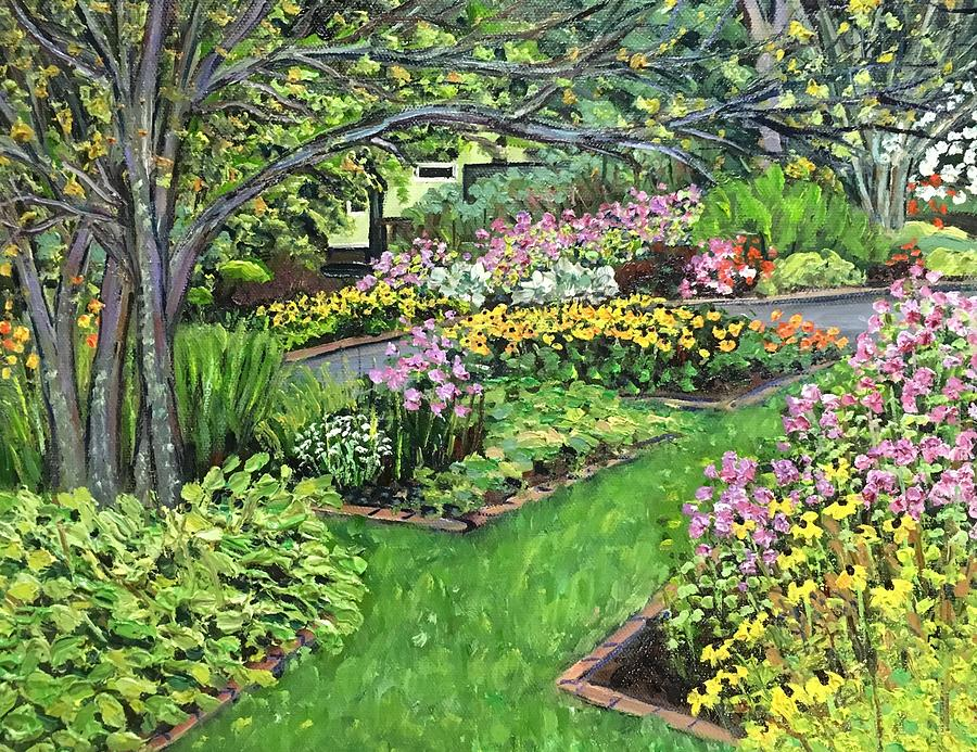 Grandmothers Garden, End Of August Painting