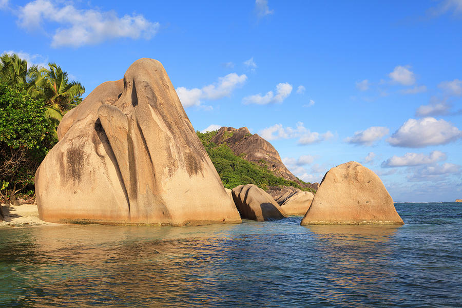 Granite Rock Formations, Anse Source Photograph by F. Lukasseck