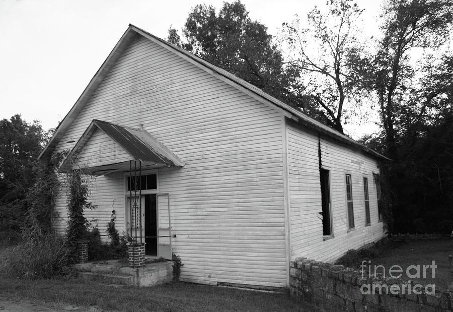 Church Photograph - Grant Baptist Church by Tony Baca