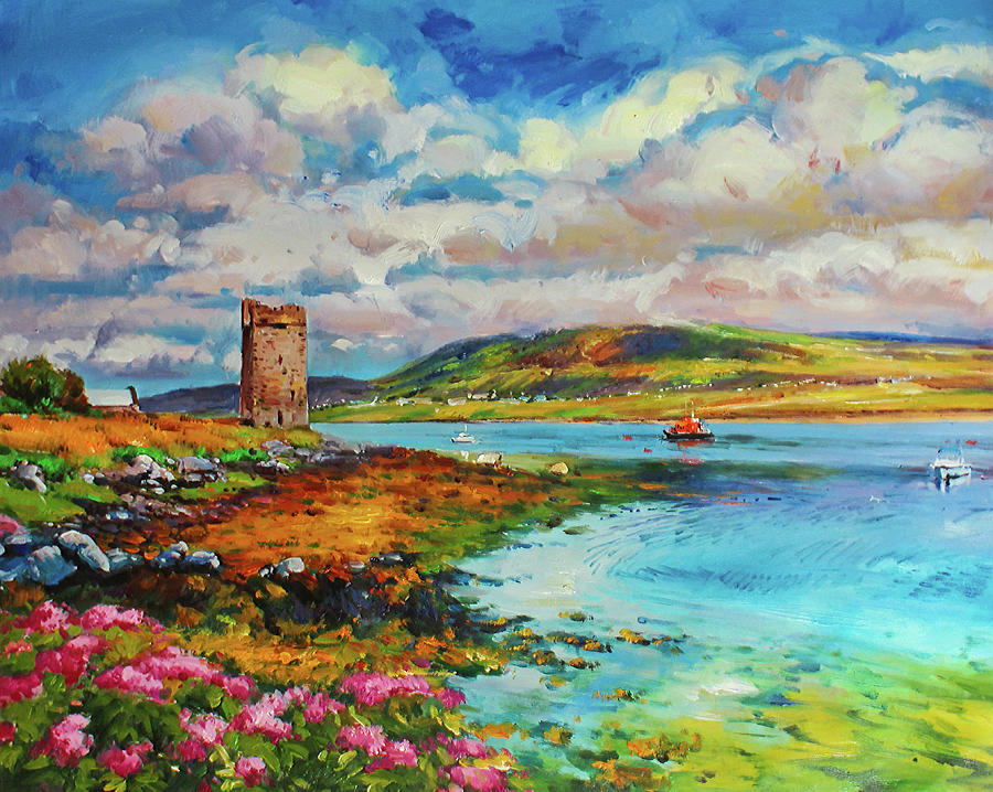 Granuaile's Tower, Kildavnet, Achill Island, Ireland by Conor McGuire