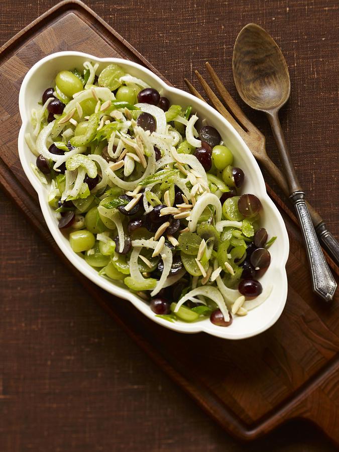 Grape & Fennel Salad Photograph by Carin Krasner