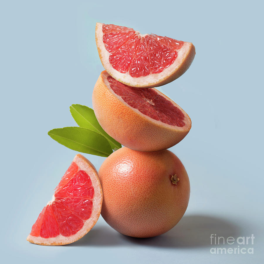 Grapefruit Close Up Still Life Photograph by Twomeows
