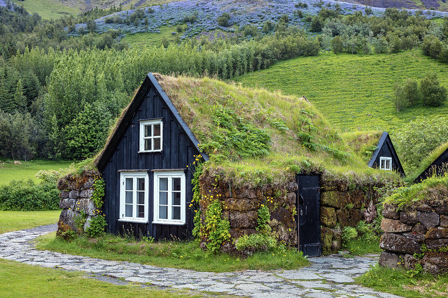 Grass Roof Cottages at the Skogar Folk Museum of Iceland by Pierre Leclerc Photography