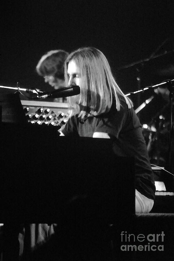 Grateful Dead Concert Brent Mydland Black and White by Susan Carella