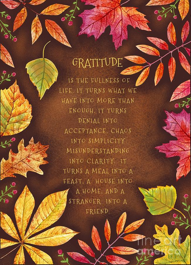 Gratitude by Elizabeth Robinette Tyndall
