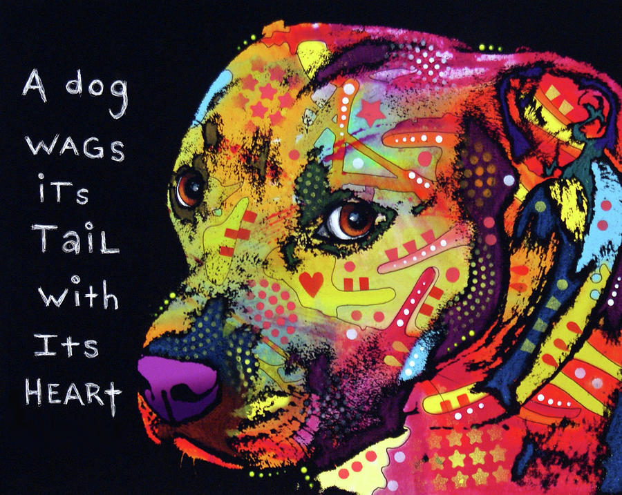 Pups Photograph - Gratitude Pitbull by Dean Russo