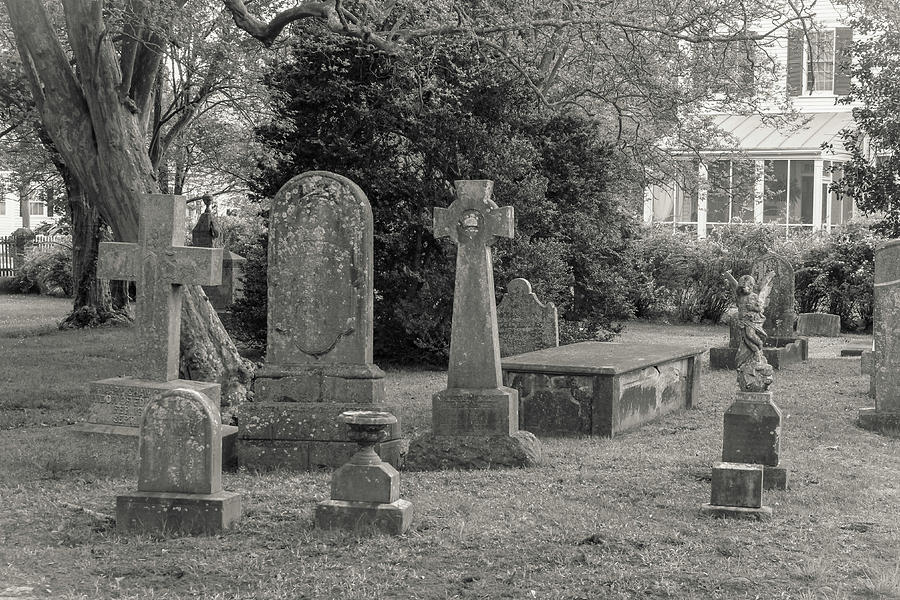 Grave Markers Photograph