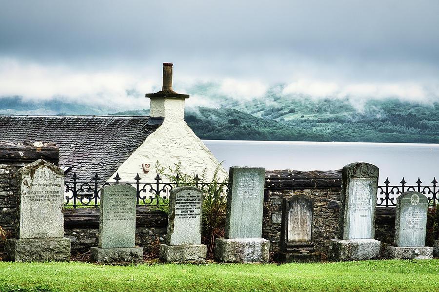 Graves at Luss Cemetery - Scotland by Stuart Litoff