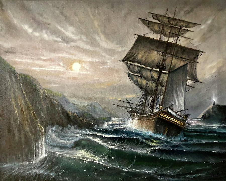 Seascape Painting - Graviora Manent by FA Chekki
