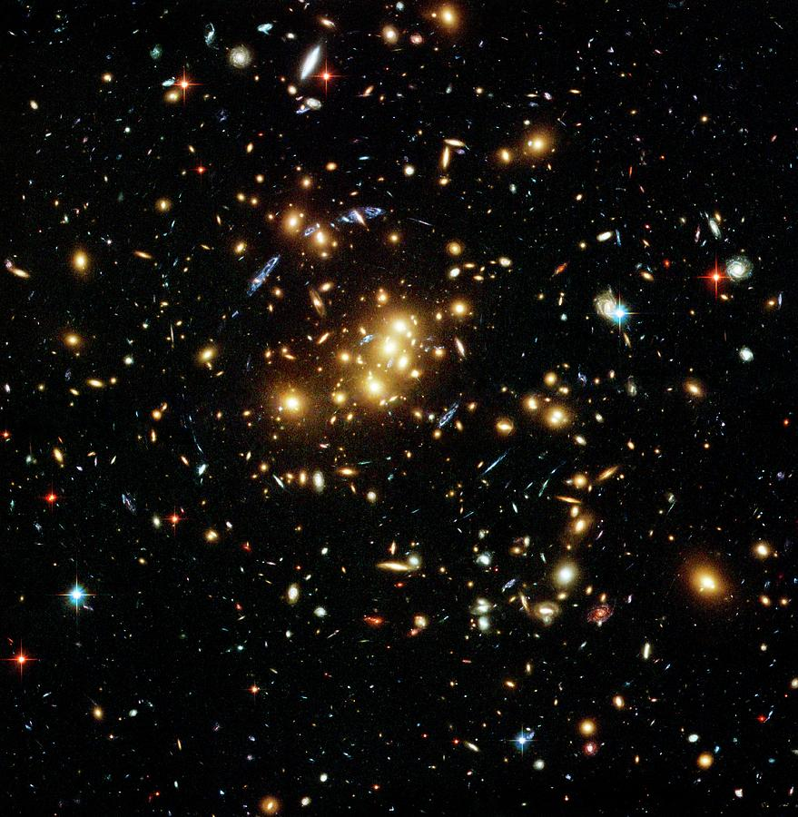 Gravitational Lensing By Dark Matter Photograph by M J Jee, H Ford/nasa/esa/stsci/spl