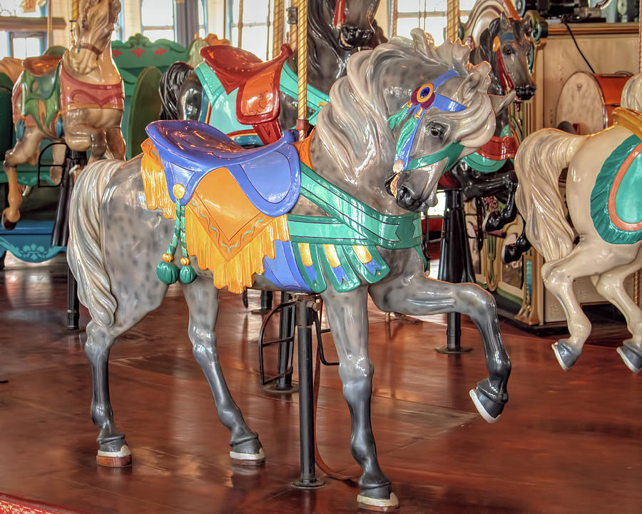 Gray Carousel Stander Horse by Kristia Adams