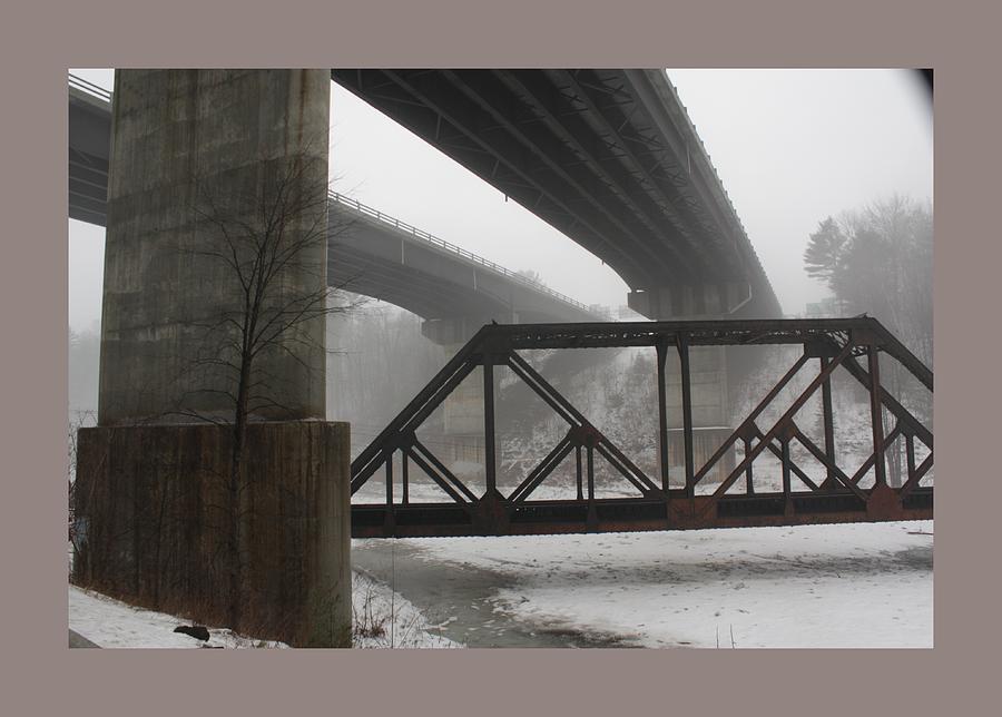 Landscape Photograph - Gray Day Bridging by David Wilde