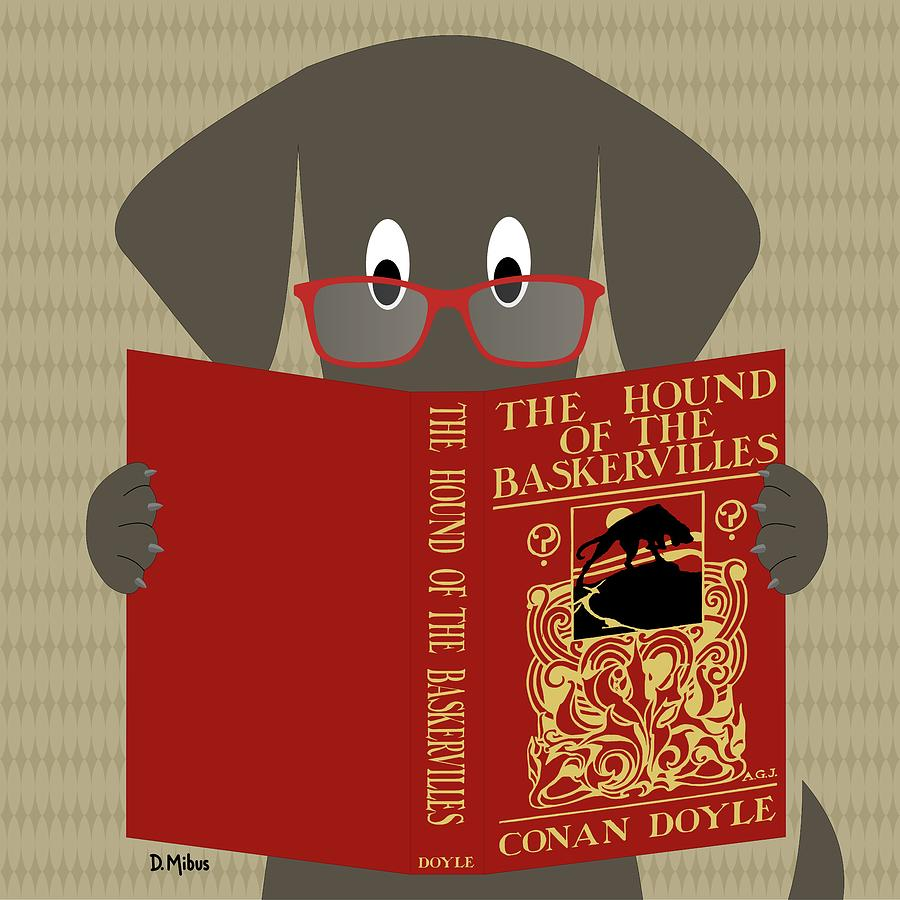 Gray Dog Reading by Donna Mibus