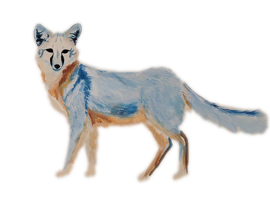 Gray Fox Painting - Gray Fox by Carly Creley