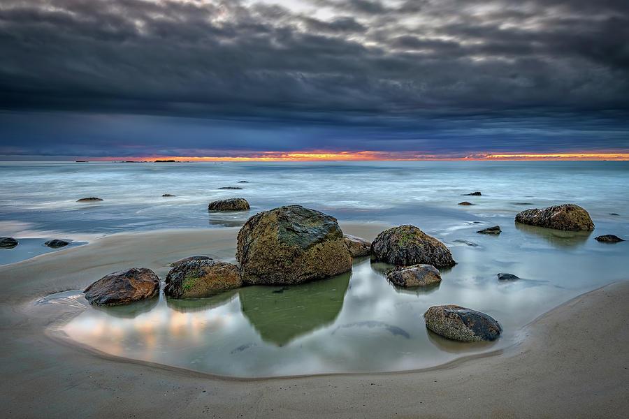 Gray Morning on Wells Beach by Rick Berk
