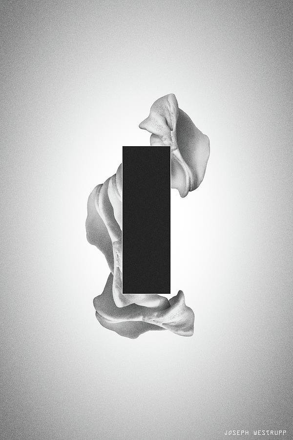 Gray Organon - Surreal Abstract Rectangle on Seashell by Joseph Westrupp