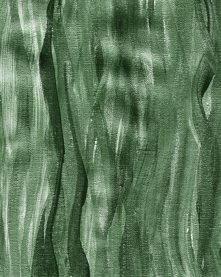 Gray Seaweed Abstract Organic Lines II by Irina Sztukowski
