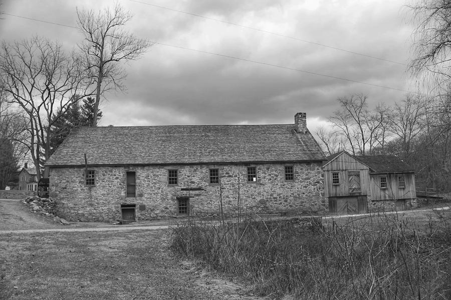 Grey Skies Over Fieldstone - Waterloo Village by Christopher Lotito
