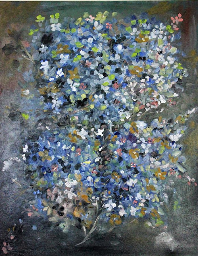 Grays and blues by Florence Ferrandino