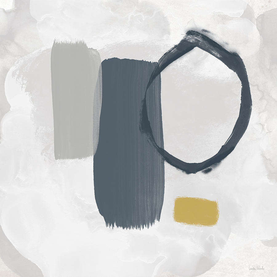 Abstract Mixed Media - Grayscale 2- Abstract Art By Linda Woods by Linda Woods