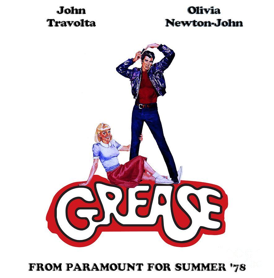 Grease Mixed Media - Grease Movie - John Travolta - Olivia Newton-john by Solid Gold
