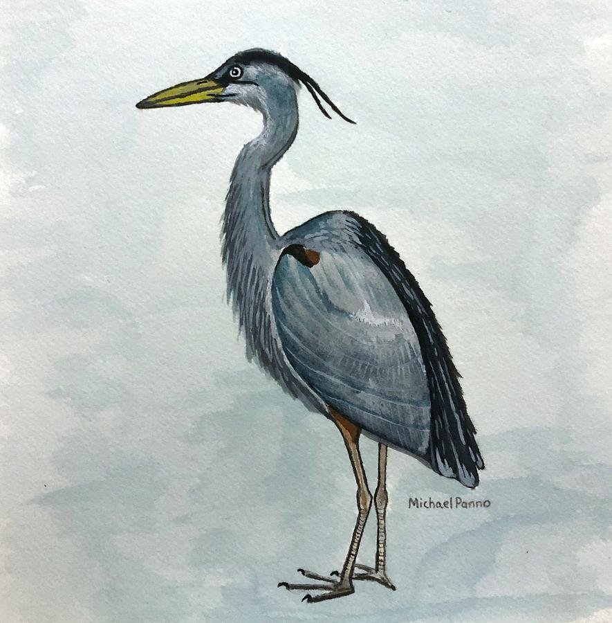 Great Blue Heron Painting