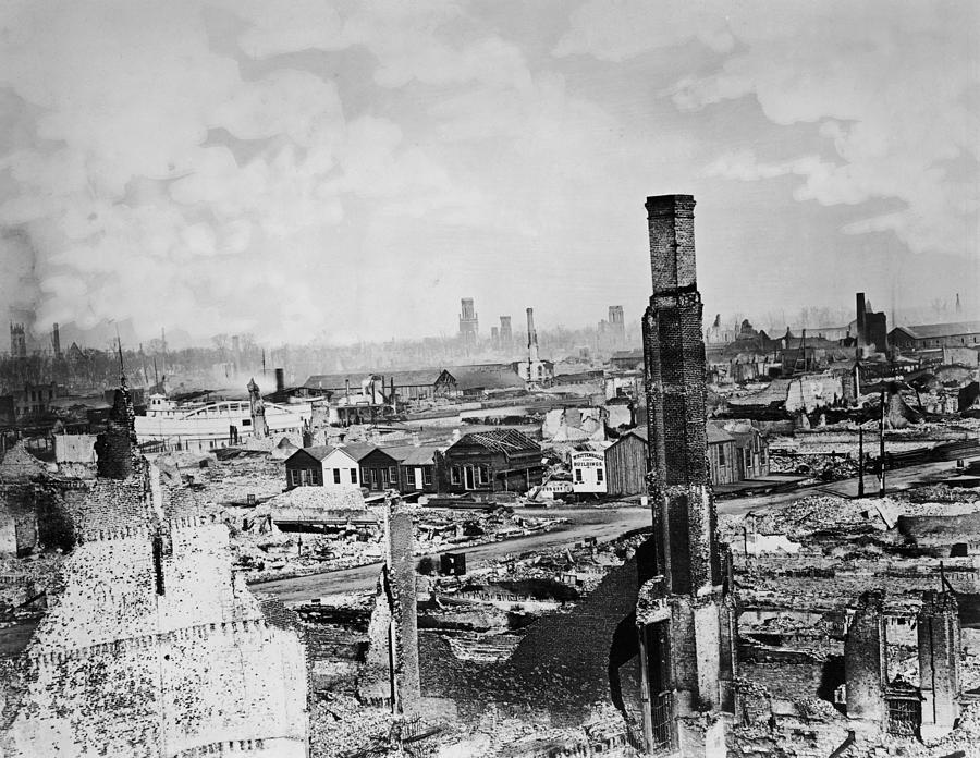 Great Chicago Fire Photograph by Archive Photos