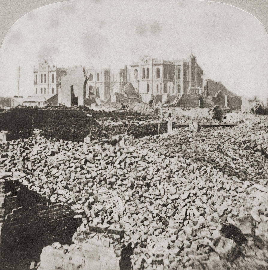 Great Chicago Fire Photograph by Otto Herschan Collection