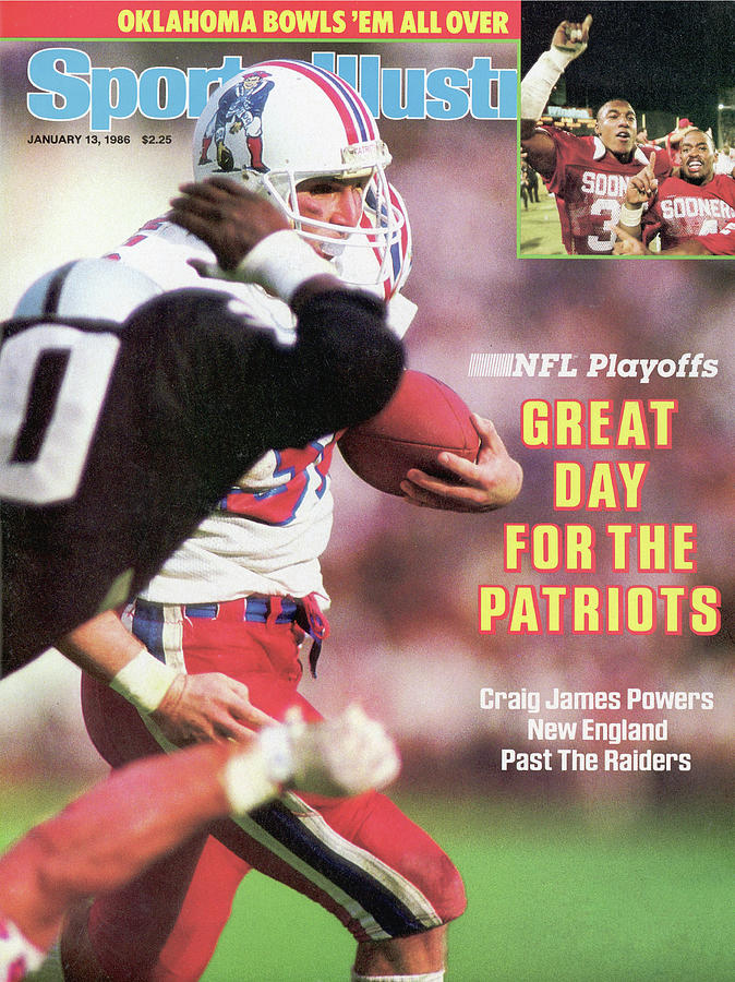 Great Day For The Patriots 1986 Nfl Playoffs Sports Illustrated Cover Photograph by Sports Illustrated