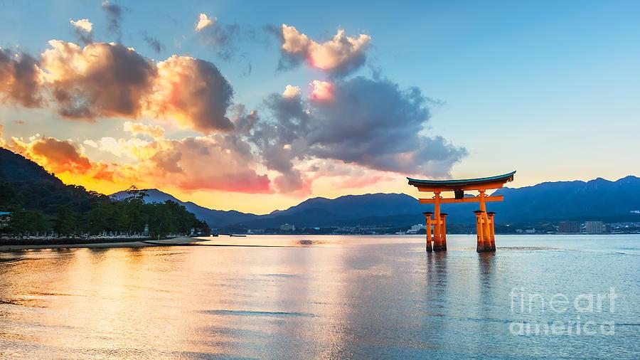 Religious Photograph - Great Floating Gate O-torii On Miyajima by Cowardlion