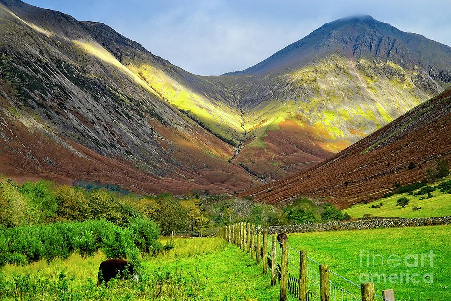 Great Gable Mountain from Wastwater by Martyn Arnold
