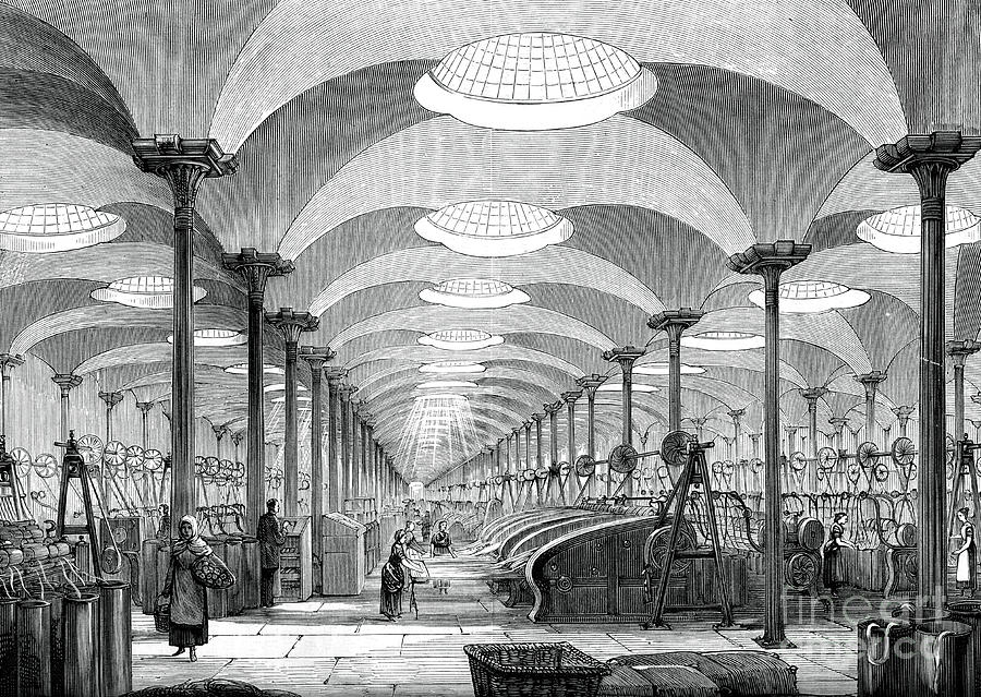 Great Hall In Messrs Marshalls Flax Drawing by Print Collector