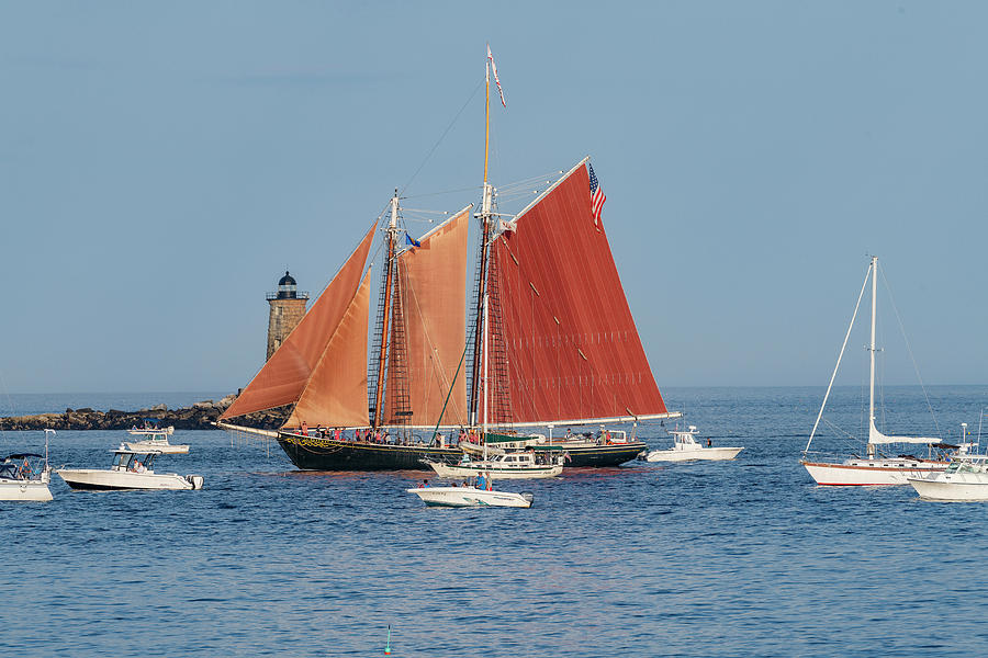 Boats Photograph - Great Island Common in NHew Castle, NH by Bob Doucette