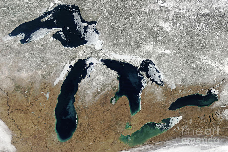 Great Lakes Photograph - Great Lakes In Winter by Delphimages Photo Creations