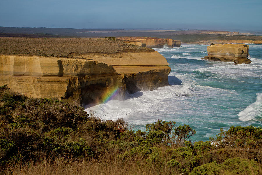 Great Ocean Road Rainbow Photograph by Peta Jade