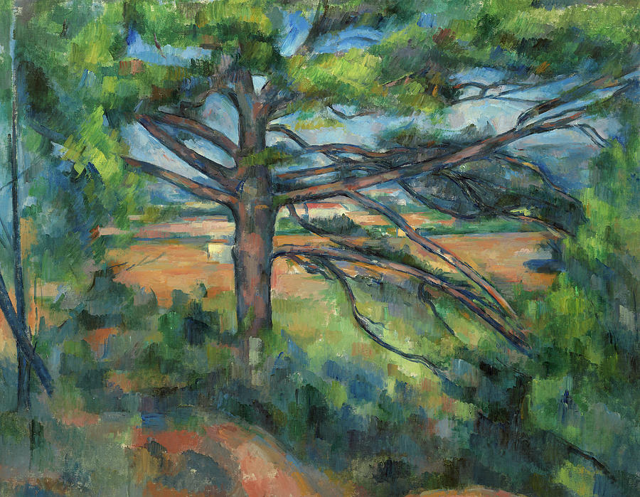 Cezanne Painting - Great Pine Near Aix-on-provence, 1897 by Paul Cezanne