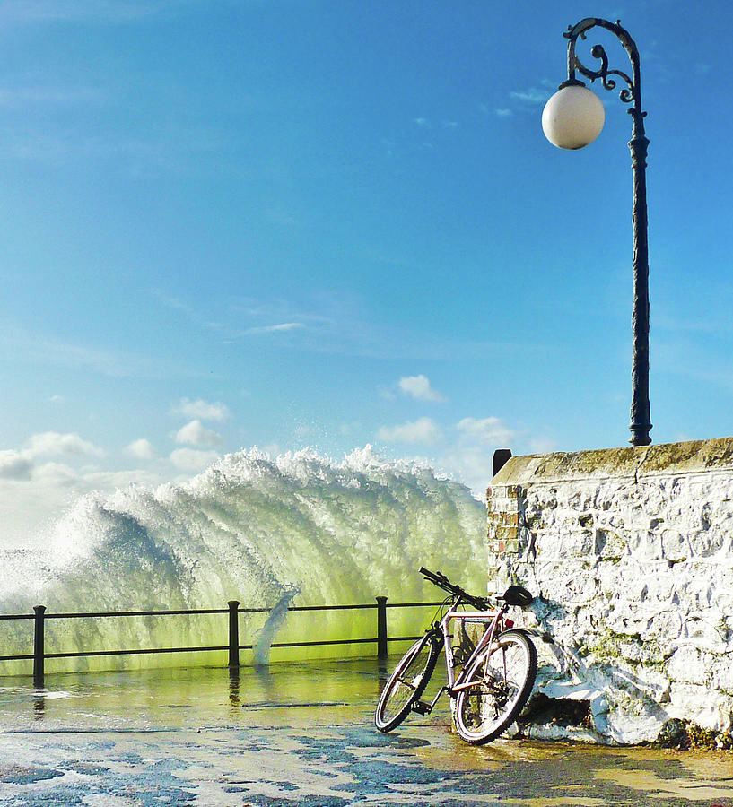 Great Place To Leave Your Bike Photograph by Copyright Ian Pacey