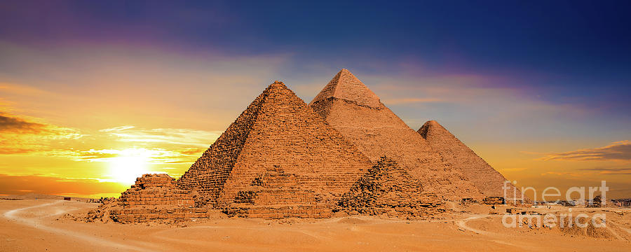 Great Pyramids In Egypt Photograph by Xurzon