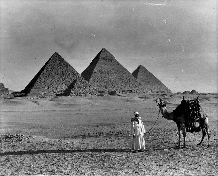 Great Pyramids Of Egypt Photograph by American Stock Archive