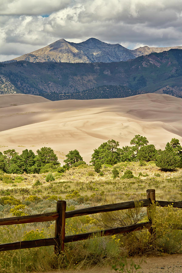 Great Sand Dunes And Cleveland Peak Photograph