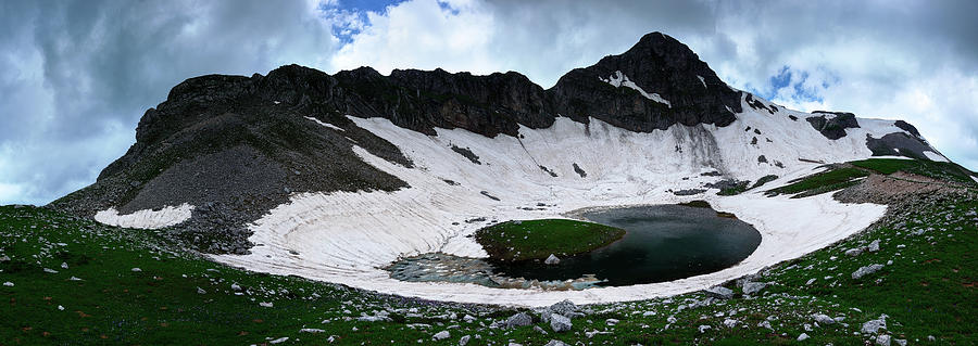 Great Trapos Alpine Lake Panorama Photograph