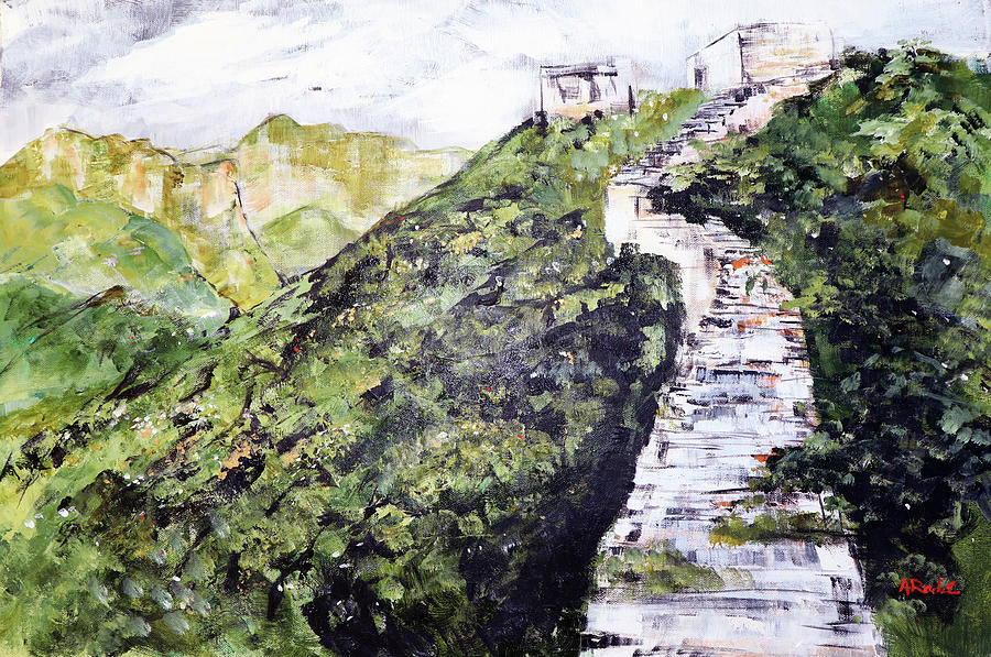 Great Wall Painting - Great Wall 3 201846 by Alyse Radenovic